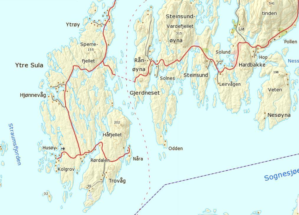 kart over solund Informasjon om framdrift for bruprosjekt over Ytre Steinsund  kart over solund